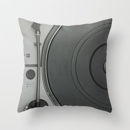 OLD SCHOOL VINYL VIBES Throw Pillow