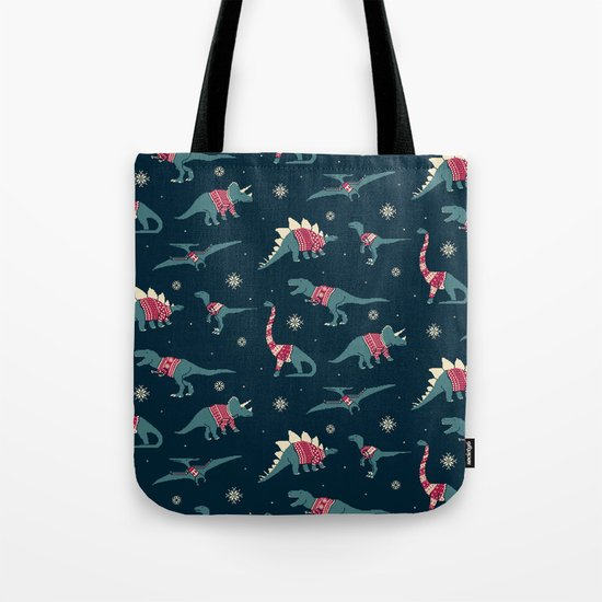 Dinos In Sweaters Tote Bag