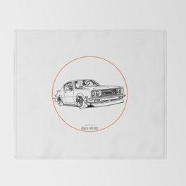 Crazy Car Art 0197 Throw Blanket