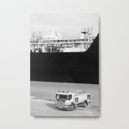 Fire truck and tanker Metal Print