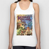 monkey island Tank Tops featuring Monkey Island by idaspark
