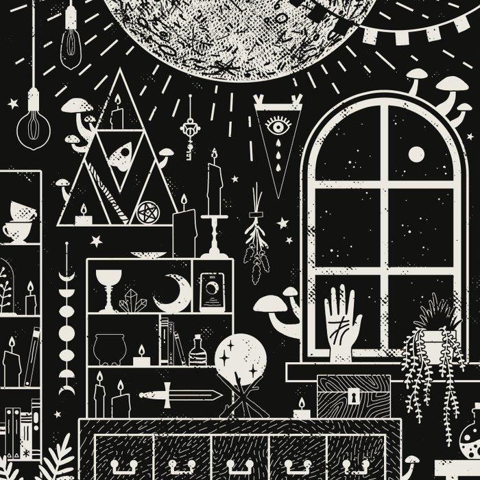 Moon Altar Duvet Cover