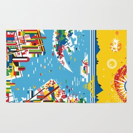 Flagscapes: World Portscape Rug