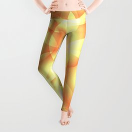 Gentle intersecting golden translucent circles in pastel colors with glow. Leggings