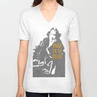 oscar wilde V-neck T-shirts featuring Lady Oscar Wilde by pruine