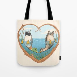 Duck Love Tote Bag
