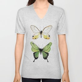 The Two Butterflies Unisex V-Neck
