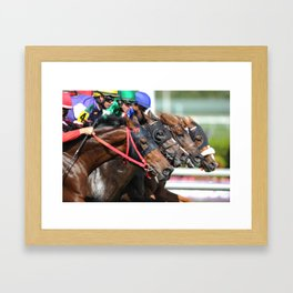Four-wide at Gulfstream Framed Art Print