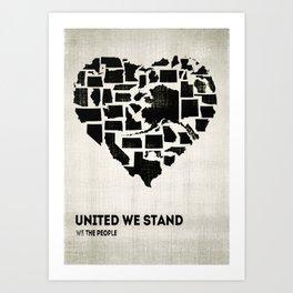 United We Stand - Black & White Art Print