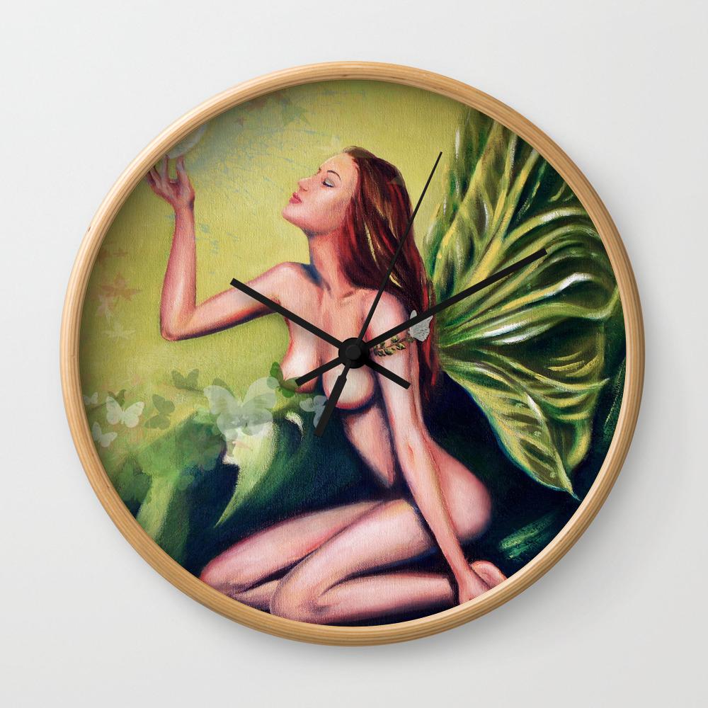Absinthe Fairy Wall Clock By Marizacharias Society6
