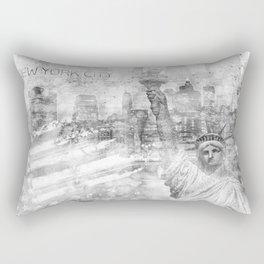 Graphic Art MANHATTAN Collage | silver Rectangular Pillow