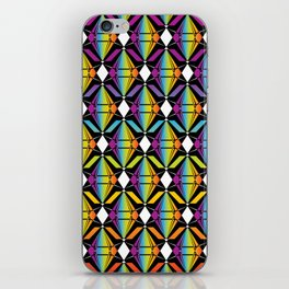 Abstract [RAINBOW] Emeralds pattern iPhone Skin