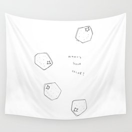 Tell Me - fruit illustration inspirational quote typography Wall Tapestry