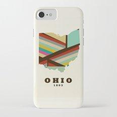 Ohio state map modern iPhone 7 Slim Case