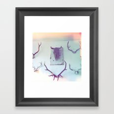 heading somewhere Framed Art Print