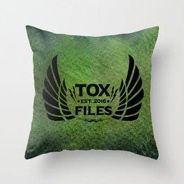 Tox Files - Black on Green Throw Pillow