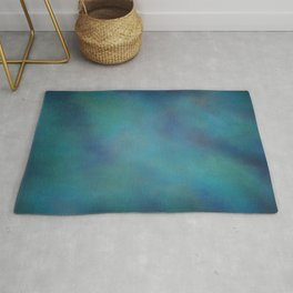 Abstract Soft Watercolor Gradient Ombre Blend 14 Teal, Purple, and Black Rug