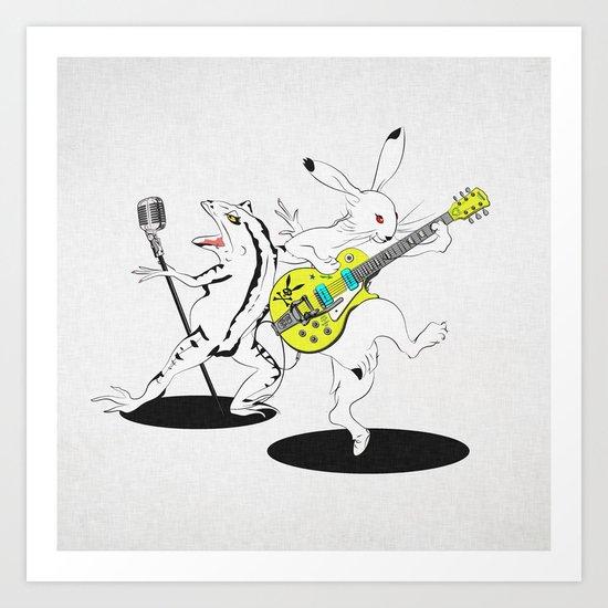 Music to Jump -鳥獣GIGA2015- Art Print