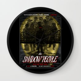 The Shadow People Wall Clock