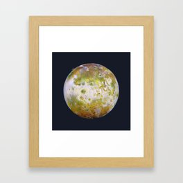 Portrait of Io (with plume) Framed Art Print