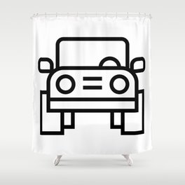 Jeep 4x4 Car Icon (Front-View) Shower Curtain