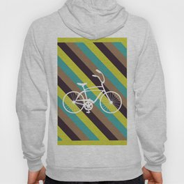 Bicycle Art Print Home Decor Living Children Room in Green Beige Brown Blue Paste Wall Graphic Hoody