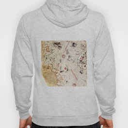 Ancient Map of The New World from Pira Re'is 1513 map Hoody