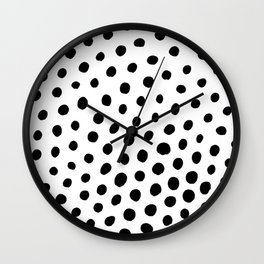 Black and White Dots Wall Clock