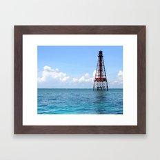 Sombrero Reef Framed Art Print
