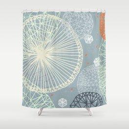 Geodesic by Friztin Shower Curtain