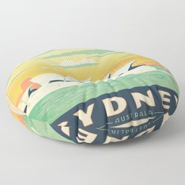 Vintage poster - Sydney Floor Pillow