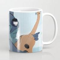 lilo and stitch Mugs featuring Stitch (Lilo & Stitch) by Bana Sakhnini