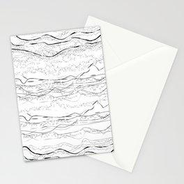 """""""Sand Dunes & Dot Pattern"""" Stationery Cards"""