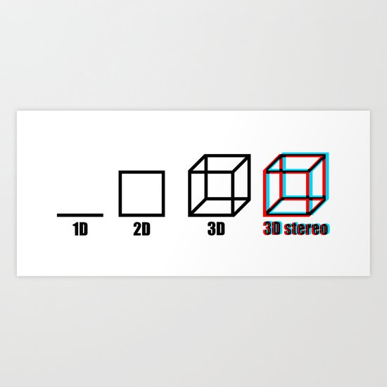 3D stereo Art Print
