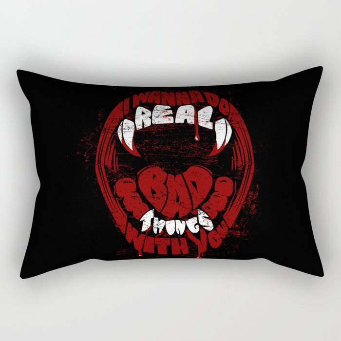 Real Bad Things Rectangular Pillow