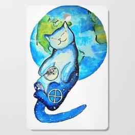 Earth Cat Cutting Board