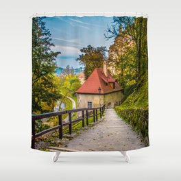 Cesky Krumlov Path Shower Curtain