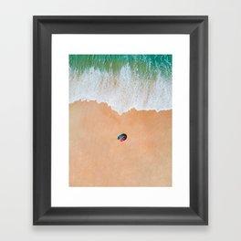Rainbow on the Beach v2 Framed Art Print