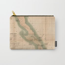 Vintage Baja California Postal Map (1904) Carry-All Pouch