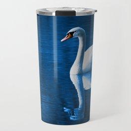 Beautiful Swan Blue Lake Travel Mug