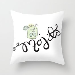 Happy Hour - Mojito Throw Pillow