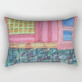 Interieur with pink Wall Rectangular Pillow