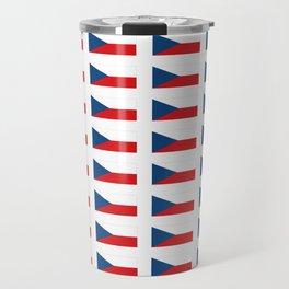flag of Czech -Czechia,Česko,Bohemia,Moravia, Silesia,Prague. Travel Mug