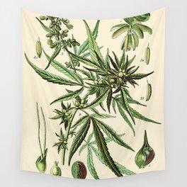 Cannabis Sativa - Vintage botanical illustration Wall Tapestry