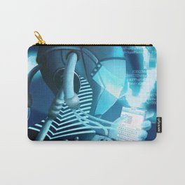 Plugged In/ Blue Carry-All Pouch