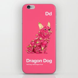 Dd - Dragon Dog // Half Dog, Half Dragon Fruit iPhone Skin