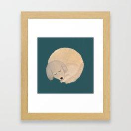 Dog Donut Framed Art Print