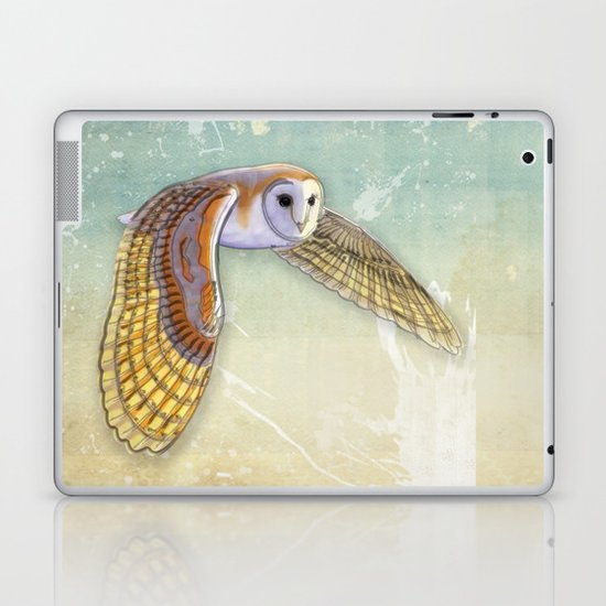 Barn Owl Labyrinth Laptop & iPad Skin