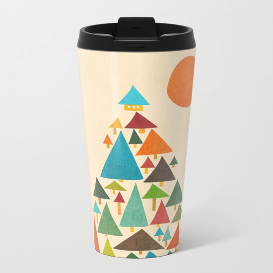 The house at the pine forest Metal Travel Mug