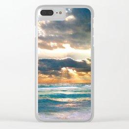 Florida Emerald Coast Sunset Clear iPhone Case